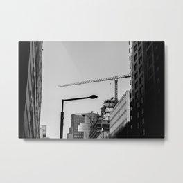 Construction Lines Metal Print