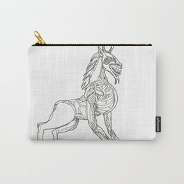 Wendigo Crouching Doodle Art Carry-All Pouch