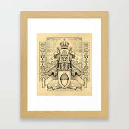 Knighthood of the Oak Framed Art Print