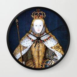 Queen Elizabeth I of England in Her Coronation Robe Wall Clock