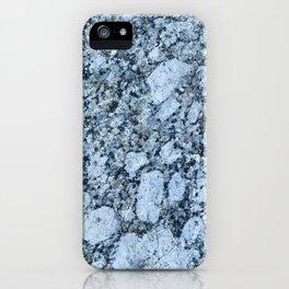 Blue textured granite rock iPhone Case