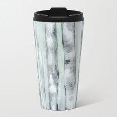Birch trees in winter Travel Mug