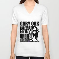 umbreon V-neck T-shirts featuring Gary's Umbreon by interesting oak