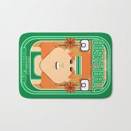 Basketball Green - Alleyoop Buzzerbeater - Jacqui version Bath Mat