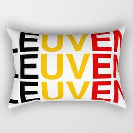LEUVEN Belgian Flag Rectangular Pillow