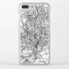 Madrid White Map Clear iPhone Case