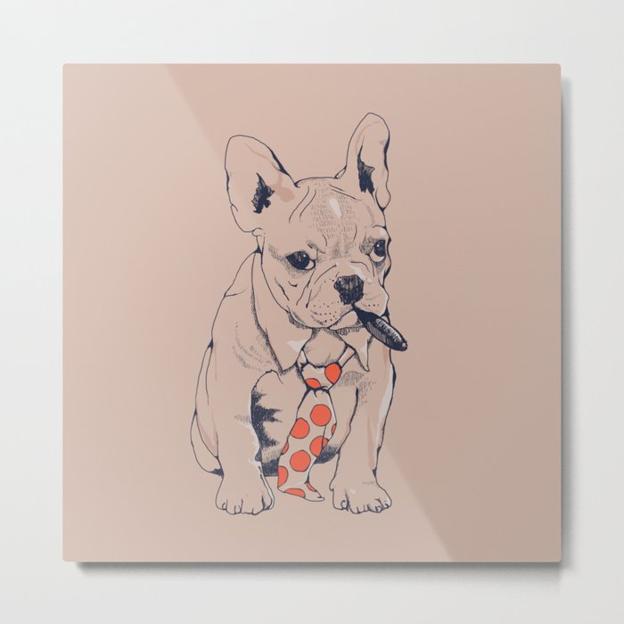 FRENCH BULLDOG BOSS Metal Print