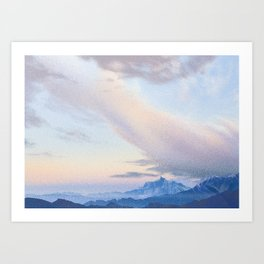 Dhaulagiri Range Seen from Ghorepani • Nepal Trekking Series Art Print