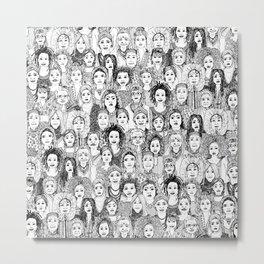 WOMEN OF THE WORLD BW Metal Print