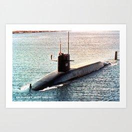 USS ULYSSES S. GRANT (SSBN-631) Art Print