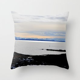 Solnedgang Throw Pillow