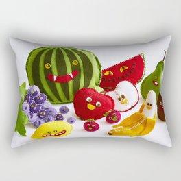 Funny fruits Rectangular Pillow