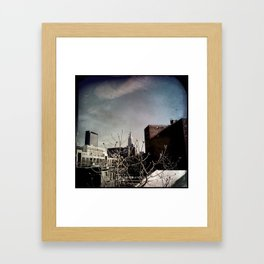 Winter Chill in the City Framed Art Print