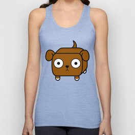 Pitbull Loaf - Red Brown Pit Bull with Floppy Ears Unisex Tank Top
