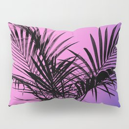 Palm tree in black with purplish gradient Pillow Sham