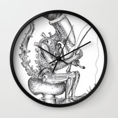 Alien gnome Wall Clock