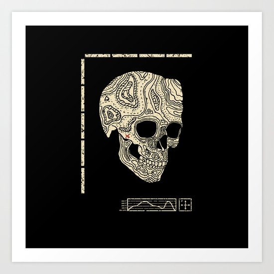 Skullography  Art Print