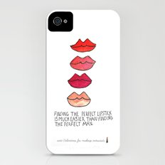 Lipstick >Men iPhone (4, 4s) Slim Case