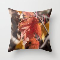 manchester Throw Pillows featuring Fall in Manchester, NH by Abby Hoffman