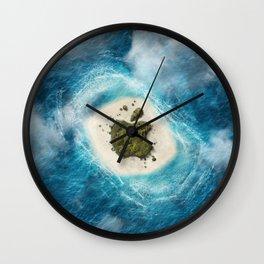 apple island Wall Clock