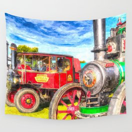 Traction Engine And Steam Lorry Art Wall Tapestry