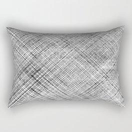 Hatch Print // Criss Cross Rectangular Pillow
