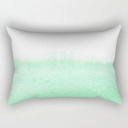 Mint watercolor Rectangular Pillow