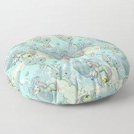Unicorn Heart Land Garden Floor Pillow