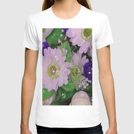 "flowers with ""bling"" T-shirt"