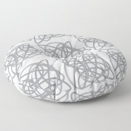 Curvy1Print Grey and White Floor Pillow