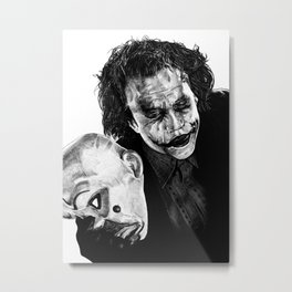 Heath's Joker - Movie Inspired Art Metal Print