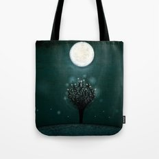 the midnight tree Tote Bag