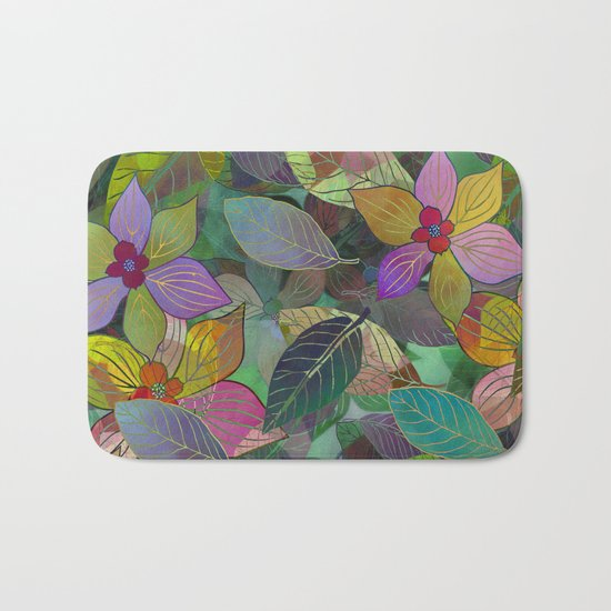 Floral Pattern 7 Bath Mat