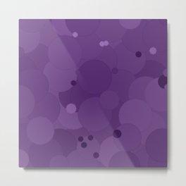 Amethyst Orchid Bubble Dot Color Accent Metal Print