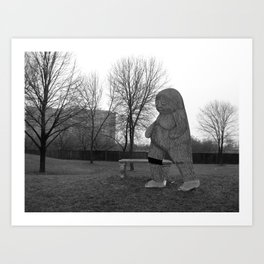 Grey Area Art Print