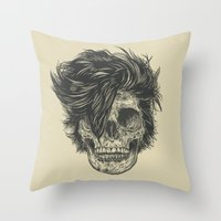 dead Throw Pillows featuring Dead Duran by Rachel Caldwell