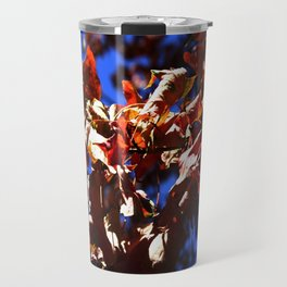 Crisp Fall Leaves Travel Mug