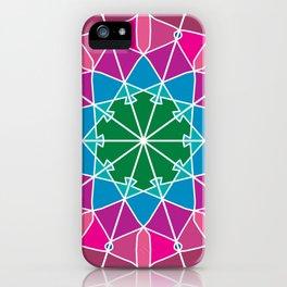 colorful ornamental flower mandala iPhone Case