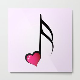 Music love concept Metal Print