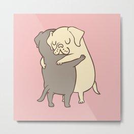 Labrador retriever Hugs Metal Print