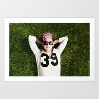 niall horan Art Prints featuring Niall Horan by Becca / But-Like-How