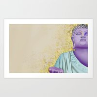 buddhism Art Prints featuring Buddhism by Handsomecracker
