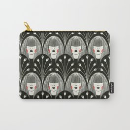 Fringe and Flowers Carry-All Pouch