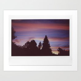Instax Sunset Art Print