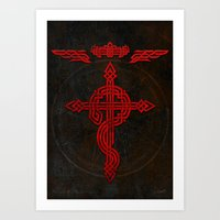full metal alchemist Art Prints featuring Full Celtic Alchemist by d3fstyle