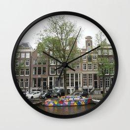 Abstract Amsterdam Boat Art Wall Clock