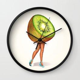 Kiwi Girl Wall Clock