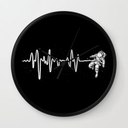 Space Heartbeat Wall Clock