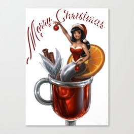 Christmas Mermaid Canvas Print