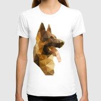 german shepherd T-shirts featuring The German Shepherd by Ed Burczyk